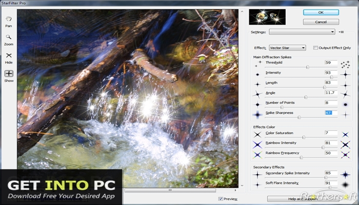StarFilter and StarSpikes Pro Photoshop Plugin