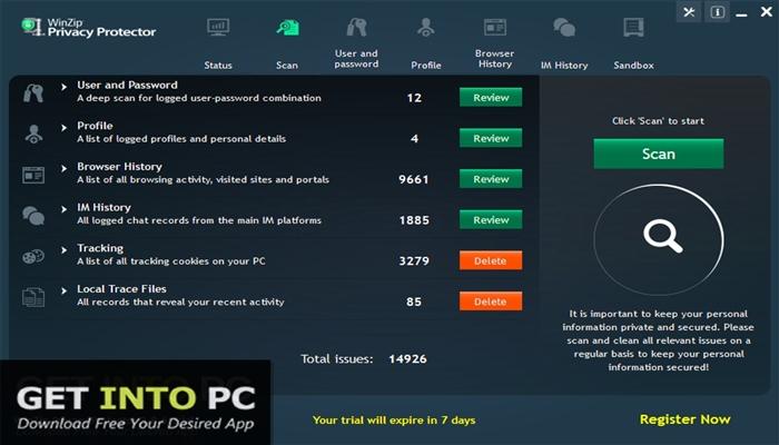 WinZip Privacy Protector Premium 2019