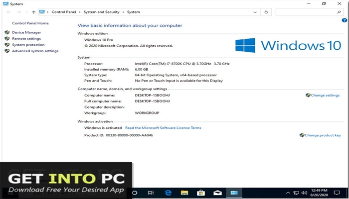Windows 10 x64 Pro incl Office 2019 Updated Aug 2020