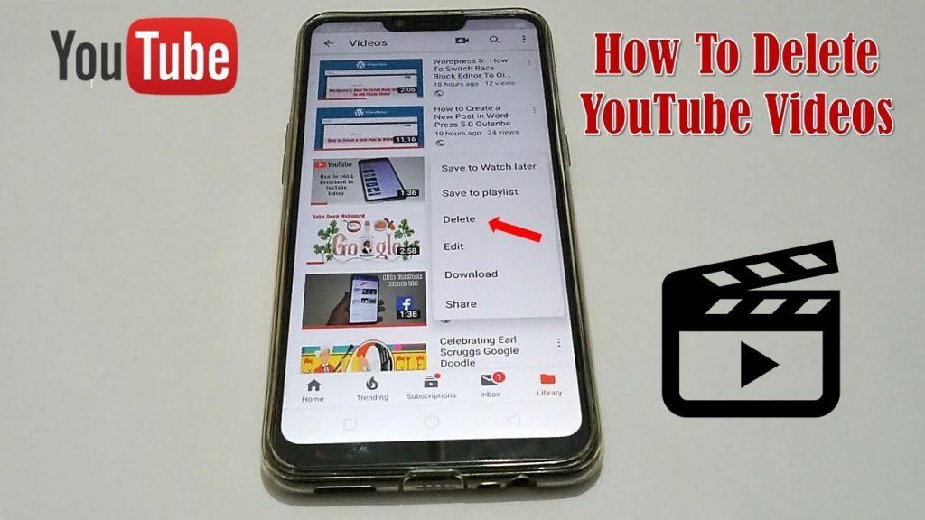delete videos on phone