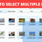 How to Select Multiple Files