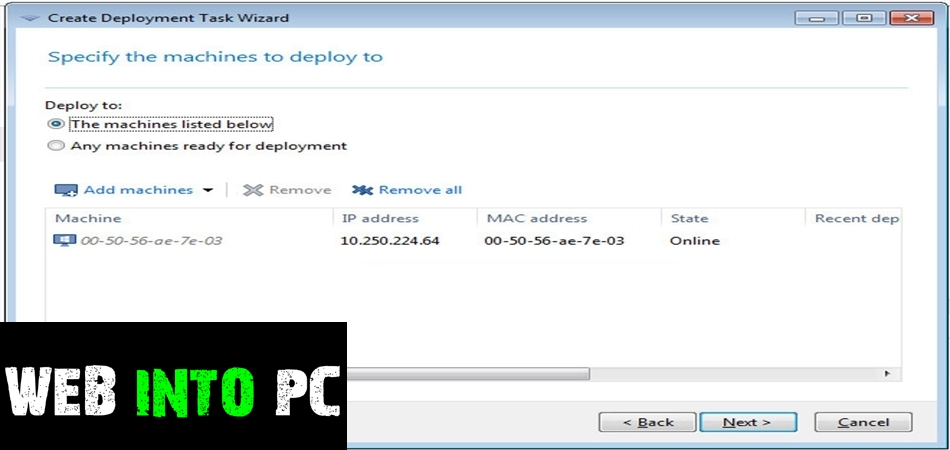 Acronis Snap Deploy-web into pc