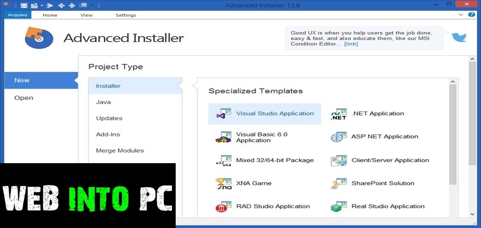 Advanced Installer Architect 15.1-getintopc website