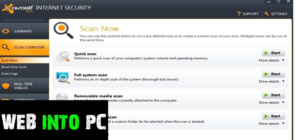 Avast Internet Security 2013-getintopc