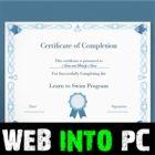 Certificate Diploma Elegant Template Vector getintopc