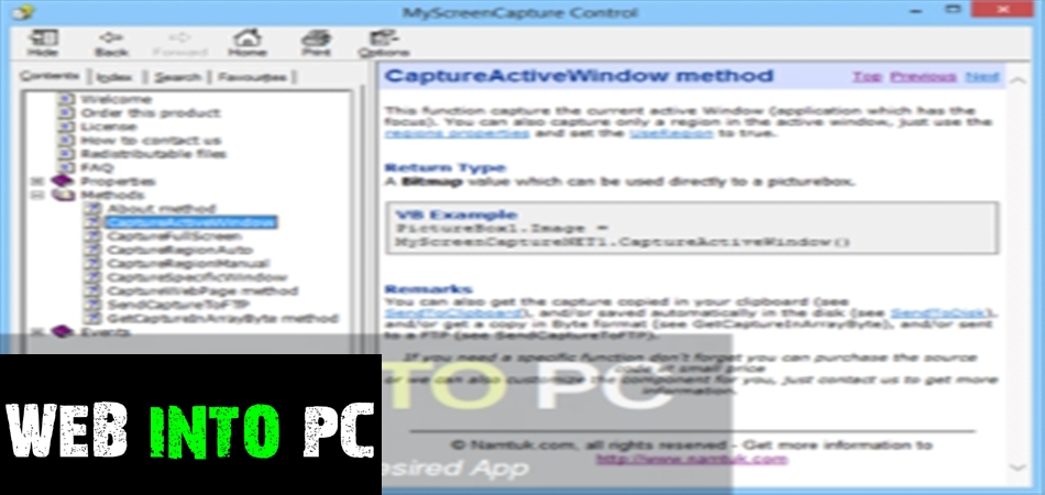 Namtuk My Screen Capture-igetintopc