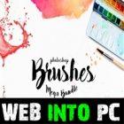 Photoshop Brushes Mega Bundle web into pc