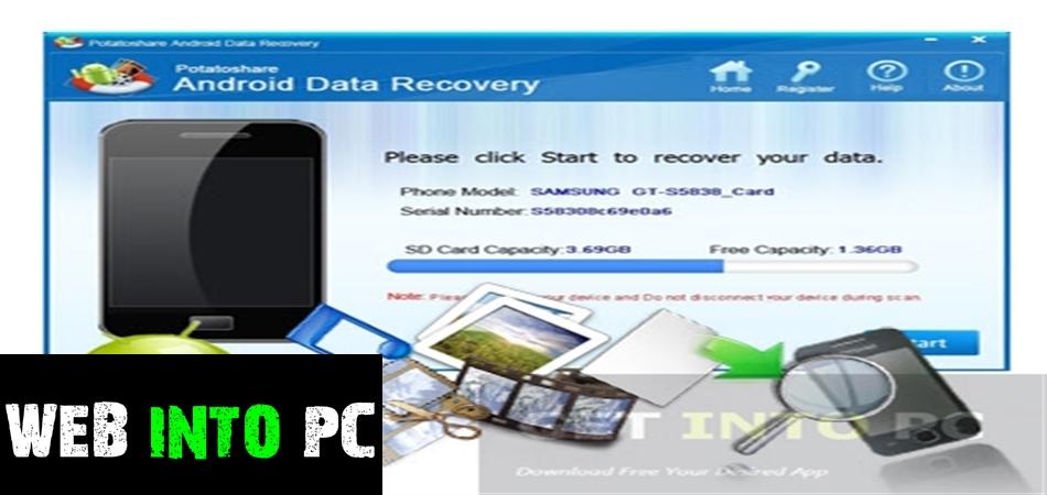 Potatoshare Android Data Recovery-getintopc website