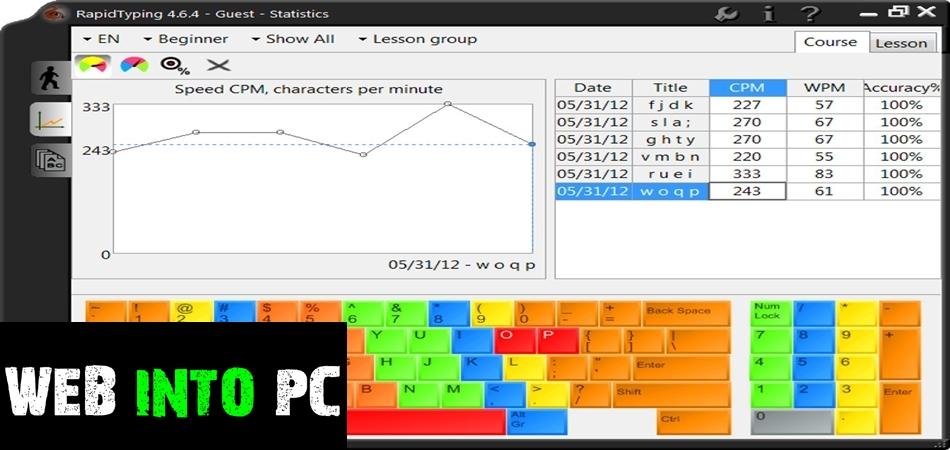 Rapid Typing Tutor-getintomypc