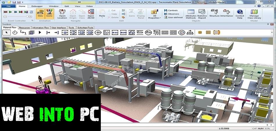 Siemens Tecnomatix Plant Simulation-web into pc