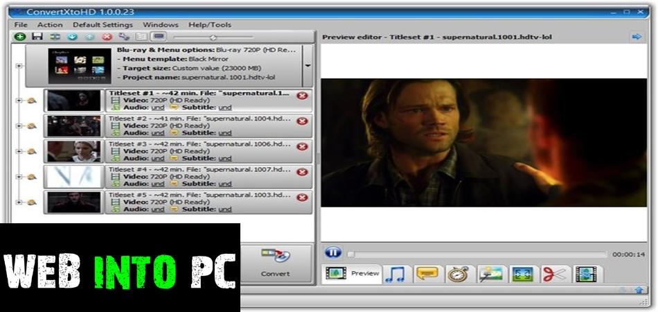 VSO ConvertXtoHD-web into pc
