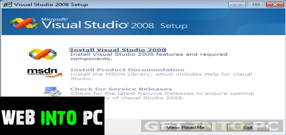 Visual Studio 2008-getintopc