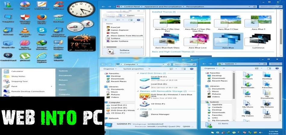 Windows 7 Aero Blue Lite Edition 2016 32 Bit-get into pc