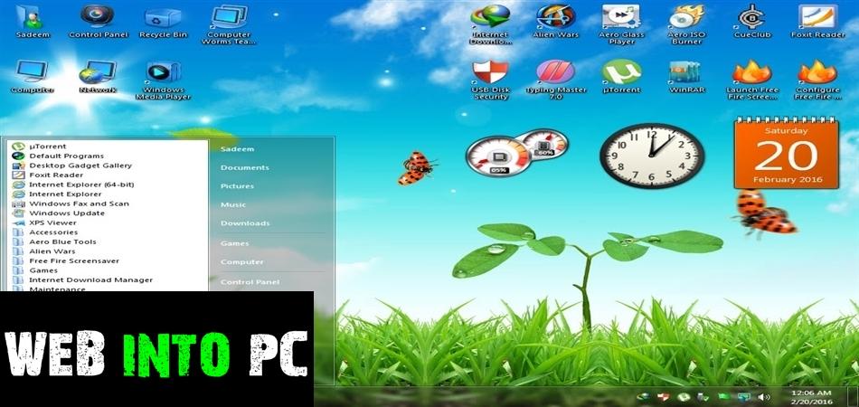 Windows 7 Aero Blue Lite Edition 2016 32 Bit-get intopc